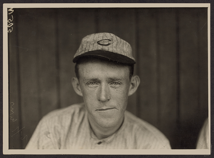 Chicago Cubs second baseman Johnny Evers, part of the famed Tinker-to-Evers-to-Chance double play combo, stares into a camera in 1910.  The photo  is among the petabytes of  digital data stored at the Library of Congress.