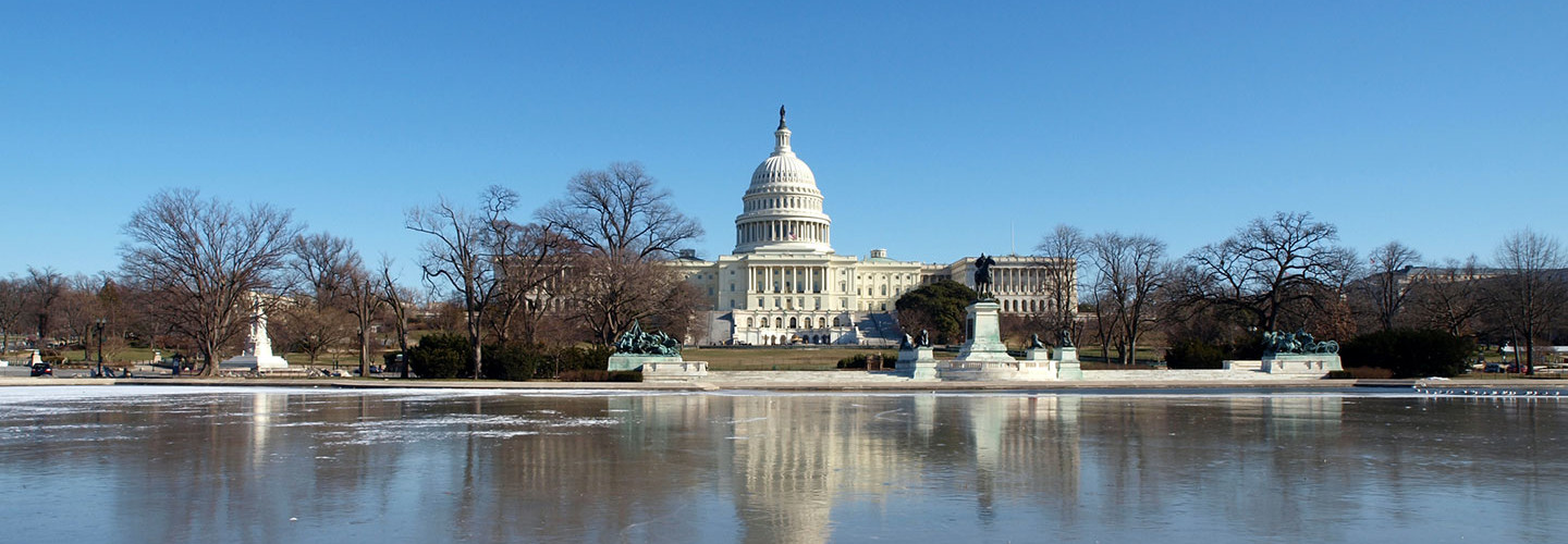 The U.S. Capitol Building during winter.