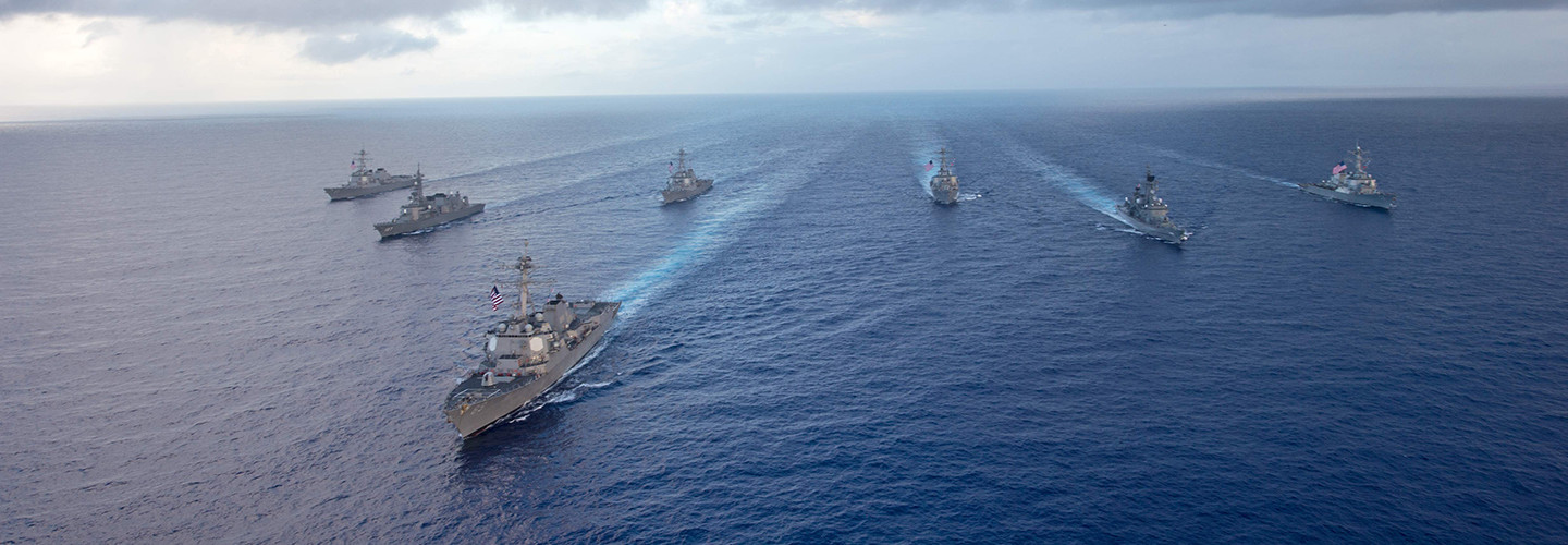 U.S. Navy ships in the Pacific Ocean