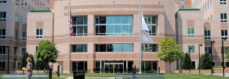 The Federal Deposit Insurance Corporation's satellite headquarters campus in Arlington, Va.