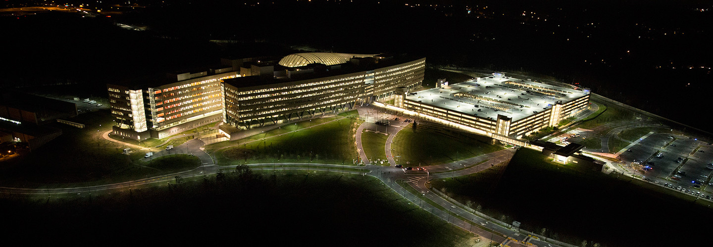 Aerial photograph of the National Geospatial-Intelligence Agency.