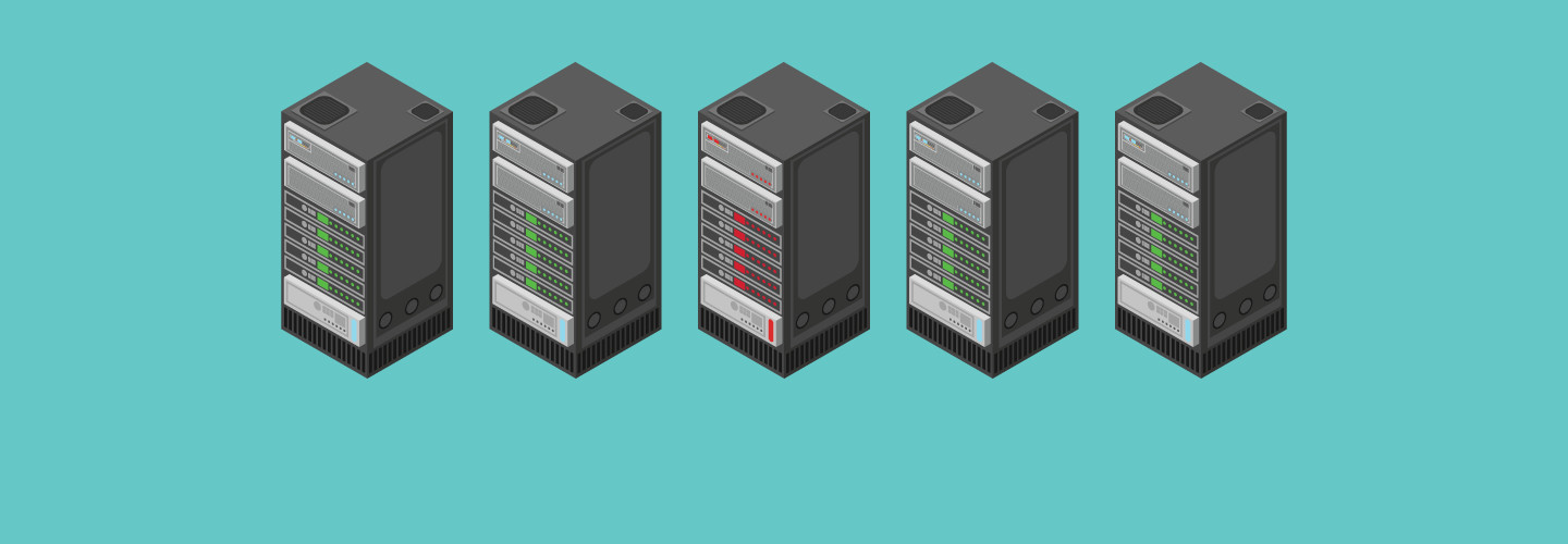 Illustration of servers