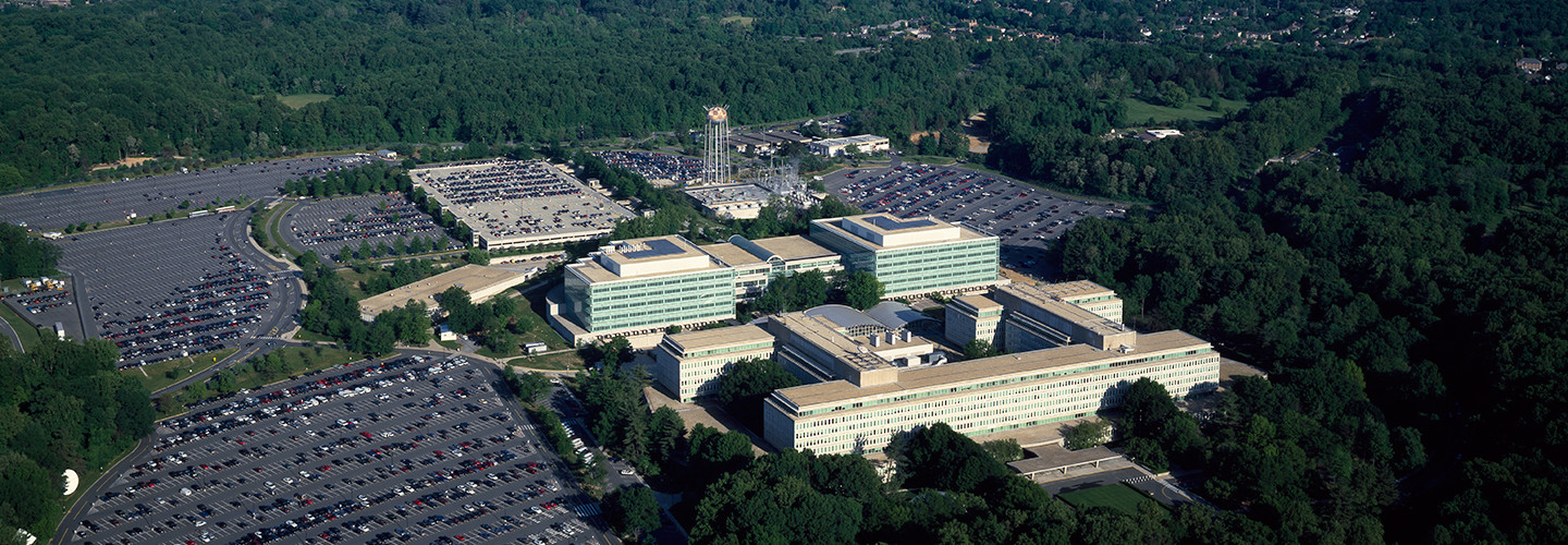 The CIA's headquarters building in Langley, Va.