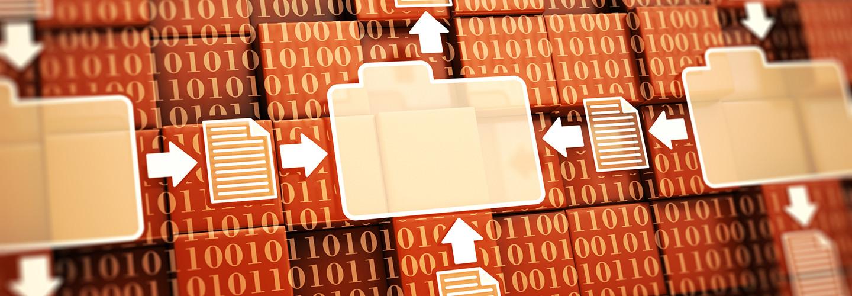 Digital records illustration
