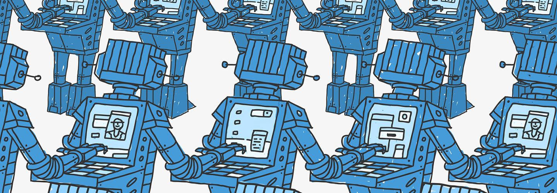 Botnet illustration