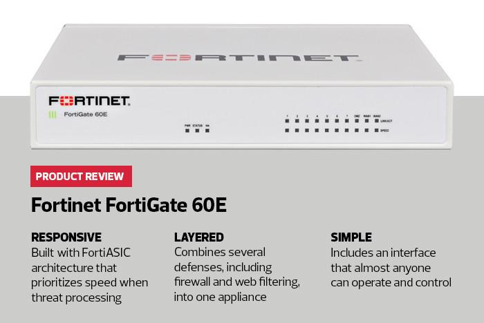 The Fortinet FortiGate 60E