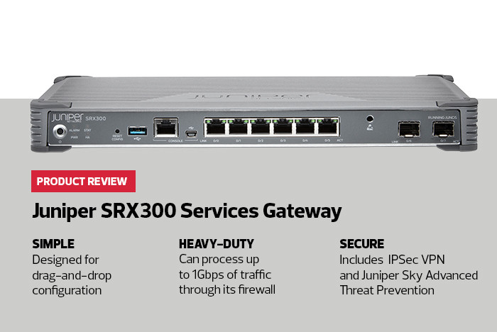 Specs for Juniper SRX300 Services Gateway
