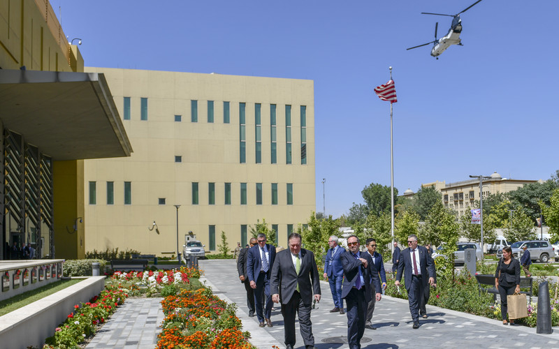 Secretary of State Michael Pompeo visiting the U.S. Embassy in Kabul, Afghanistan