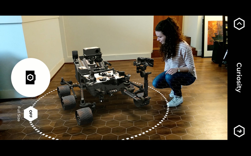 NASA's Spacecraft AR app lets smartphone users park a Mars rover (or other NASA spacecraft) anywhere — even the kitchen floor.