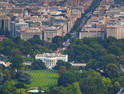 Aerial view of Washington, D.C., by the White House and downtown