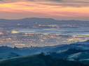 Silicon Valley at sunset