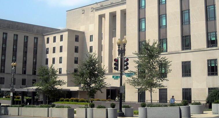 The Harry S. Truman Building at the headquarters of the State Department.