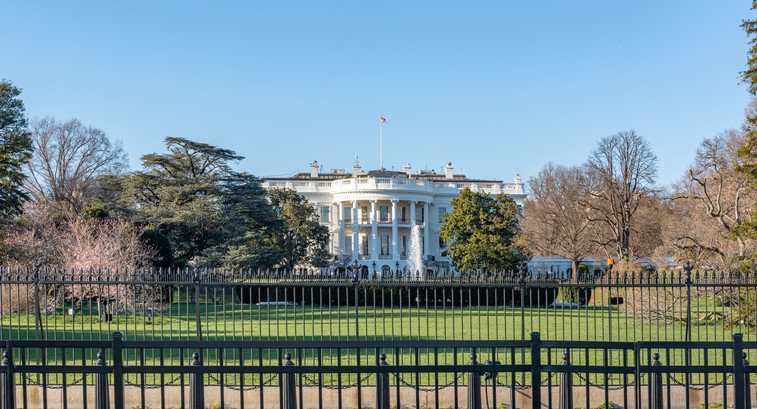 White House behind fences