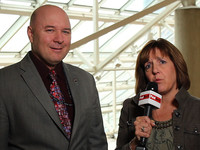 NASA's John Sprague and FedTech's Vanessa Roberts