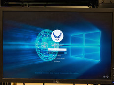 Air Force logo on a computer login screen
